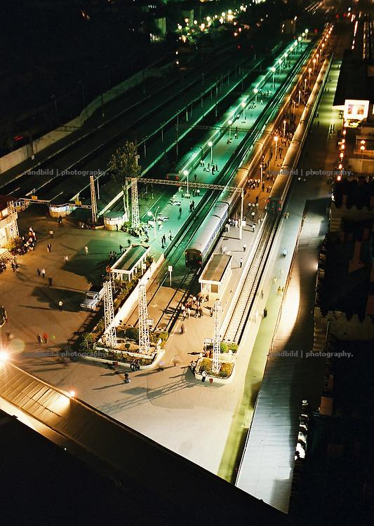 Der Bahnhof der aserbaidschanischen Hauptstadt Baku. Central station in Baku, Aserbaijan.