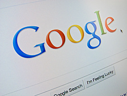 Detail of online Google search engine  website homepage screen shot