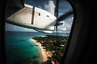 Coming into land on Big Corn Island, Nicaragua, 50 miles off the east coast of the mainland. Copyright 2017 Reid McNally.
