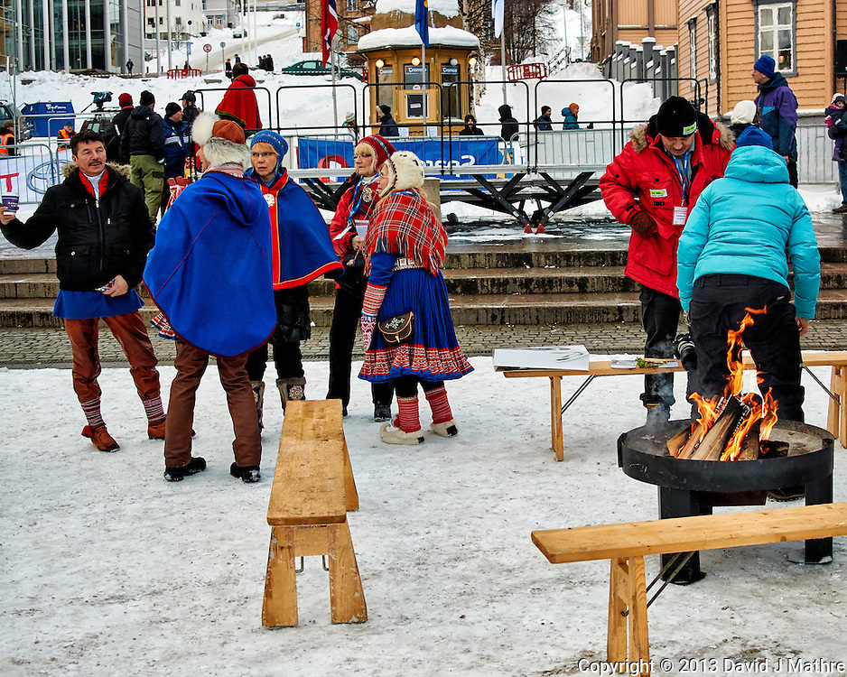 """Hot Pants"" Sunday outdoor market/festival . Winter walkabout in Tromsø, Norway. Image taken with a Nikon 1 V2 camera and 18.5 mm f/1.8 lens (ISO 180, 18.5 mm, f/2.8, 1/500 sec)."