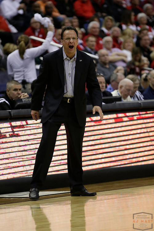 Indiana head coach Tom Crean in action as Indiana played Wisconsin in an NCCA college basketball game in the third round of the Big 10 tournament in Washington, D.C., Friday, March 10, 2017. (AJ Mast)