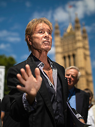 © Licensed to London News Pictures. 01/07/2019. London, UK. Sir Cliff Richard at the launch of a campaign calling for a ban on naming sex crime suspects unless they have been charged. Photo credit: Rob Pinney/LNP