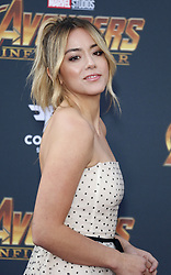 Chloe Bennet at the premiere of Disney and Marvel's 'Avengers: Infinity War' held at the El Capitan Theatre in Hollywood, USA on April 23, 2018.