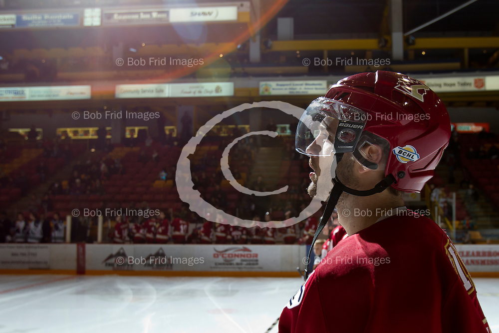 29 December 2013:  Andrew Silard (11) of the Chiefs  during a game between the Chilliwack Chiefs and the Surrey Eagles at Prospera Centre, Chilliwack, BC.    ****(Photo by Bob Frid - All Rights Reserved 2013): mobile: 778-834-2455 : email: bob.frid@shaw.ca ****