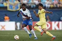 September 20, 2018 - Vila-Real, Castellon, Spain - Lassana Coulibaly (L) of Rangers competes for the ball with Pablo Fornals of Villarreal CF during the UEFA Europa League group G match between Villarreal CF and Rangers at Estadio de la Ceramica on September 20, 2018 in Vila-real, Spain  (Credit Image: © David Aliaga/NurPhoto/ZUMA Press)