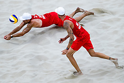 08.08.2016, Copacabana Arena, Rio de Janeiro, BRA, Rio 2016, Olympische Sommerspiele, Beachyolleyball, Herren, im Bild v.l. Alexander Horst (AUT, 2), Clemens Doppler (AUT, 1) // Alexander Horst of Austria (L) and Clemens Doppler of Austria (R) during the Mens Beachvolleyball Tournament of the the Rio 2016 Olympic Summer Games at the Copacabana Arena in Rio de Janeiro, Brazil on 2016/08/08. EXPA Pictures © 2016, PhotoCredit: EXPA/ Johann Groder