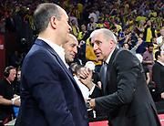 Panagiotis Angelopoulos Presidente Olympiakos Piraeus Basket, Zeljko Obradovic<br /> Fenerbahce Istanbul - Olympiakos Piraeus<br /> Euroleague Final Four 2017<br /> Finale 1 - 2 Posto<br /> Euroleague 2016/2017<br /> Istanbul, 21/05/2017<br /> Foto M.Ceretti / Ciamillo - Castoria