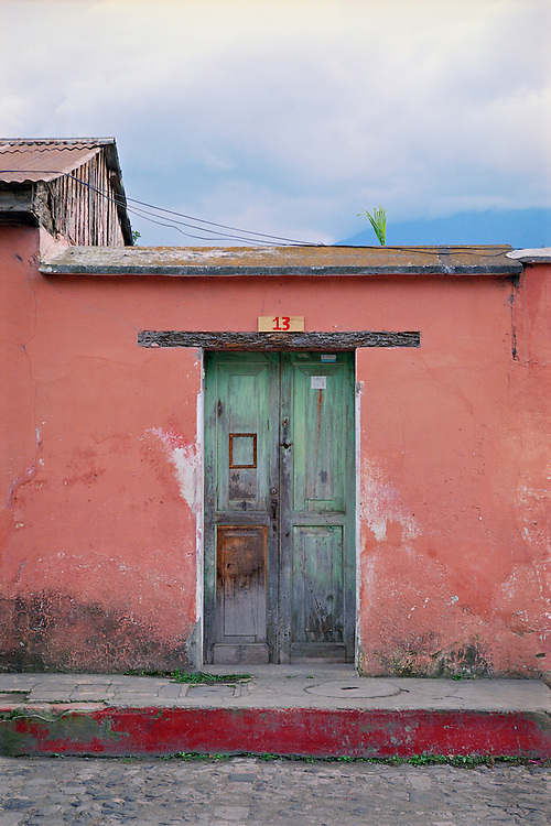 colorful door in Antigua Guatemala