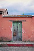 colorful door in Antigua Guatemala