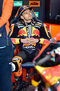 #33 Brad Binder, S.African: Red Bull KTM Factory Racing waits for his first run on a motoGP bike during 2020 MotoGP Testing at Circuito Ricardo Tormo Cheste, Valencia, Spain on 19 November 2019.
