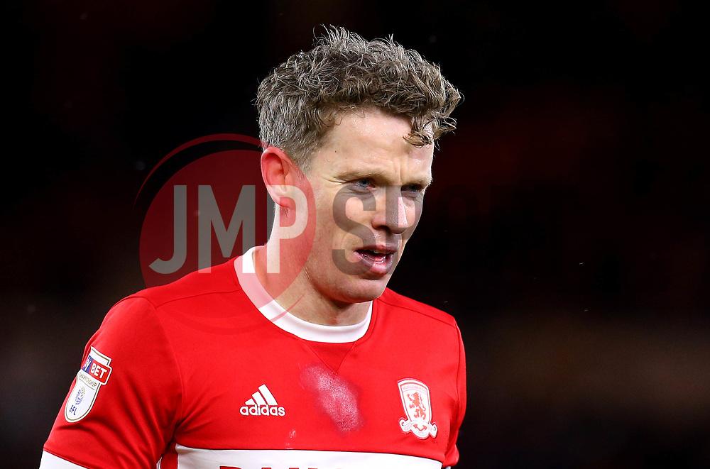 Grant Leadbitter of Middlesbrough - Mandatory by-line: Robbie Stephenson/JMP - 02/03/2018 - FOOTBALL - Riverside Stadium - Middlesbrough, England - Middlesbrough v Leeds United - Sky Bet Championship