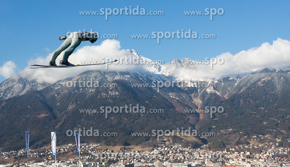 03.01.2017, Bergiselschanze, Innsbruck, AUT, FIS Weltcup Ski Sprung, Vierschanzentournee, Innsbruck, Training, im Bild Andreas Stjernen (NOR) // Andreas Stjernen of Norway during his Qualification Jump for the Four Hills Tournament of FIS Ski Jumping World Cup at the Bergiselschanze in Innsbruck, Austria on 2017/01/03. EXPA Pictures © 2017, PhotoCredit: EXPA/ Jakob Gruber
