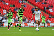 Forest Green Rovers Mark Ellis(5) on the ball during the Vanarama National League Play Off Final match between Tranmere Rovers and Forest Green Rovers at Wembley Stadium, London, England on 14 May 2017. Photo by Shane Healey.