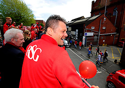 Bristol City manager, Steve Cotterill on the top deck of the open top bus tour- Photo mandatory by-line: Joe Meredith/JMP - Mobile: 07966 386802 - 04/05/2015 - SPORT - Football - Bristol -  - Bristol City Celebration Tour