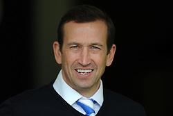 Gillingham's Manager, Justin Edinburgh  - Photo mandatory by-line: Harry Trump/JMP - Mobile: 07966 386802 - 21/02/15 - SPORT - Football - Sky Bet League One - Yeovil Town v Gillingham - Huish Park, Yeovil, England.