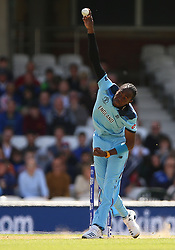 England's Jofra Archer during the ICC Cricket World Cup Warm up match at The Oval, London.