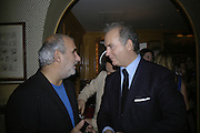 Alan Yentob and Charles Finch, Charles Finch and Chanel 7th Anniversary Pre-Bafta party to celebratew A Great Year of Film and Fashiont at Annabel's. Berkeley Sq. London W1. 10 February 2007. -DO NOT ARCHIVE-© Copyright Photograph by Dafydd Jones. 248 Clapham Rd. London SW9 0PZ. Tel 0207 820 0771. www.dafjones.com.