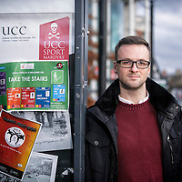 FREE IMAGE-NO REPRO FEE. Martin Davoren,  UCC PhD student. Photo by Tomas Tyner, UCC.