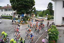The peloton completes the inital loop around Tarcento during the Giro Rosa 2016 - Stage 2. A 111.1 km road race from Tarcento to Montenars, Italy on July 3rd 2016.