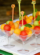 Melon and watermelon fruit salad