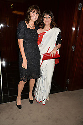 Left to right, VALERIE WADE and LADY NAIPAUL at a dinner hosted by Liberatum to honour Francis Ford Coppola held at the Bulgari Hotel & Residences, 171 Knightsbridge, London on 17th November 2014.