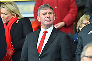 Manchester United legend Bryan Robson in the stand before the Premier League match between Bournemouth and Manchester United at the Vitality Stadium, Bournemouth, England on 3 November 2018.