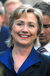 Senator Hillary Clinton attends the Columbus Day Parade on Fifth Avenue in New York City, NY, USA on October 9, 2006. Photo by Dennis Van Tine/ABACAPRESS.COM
