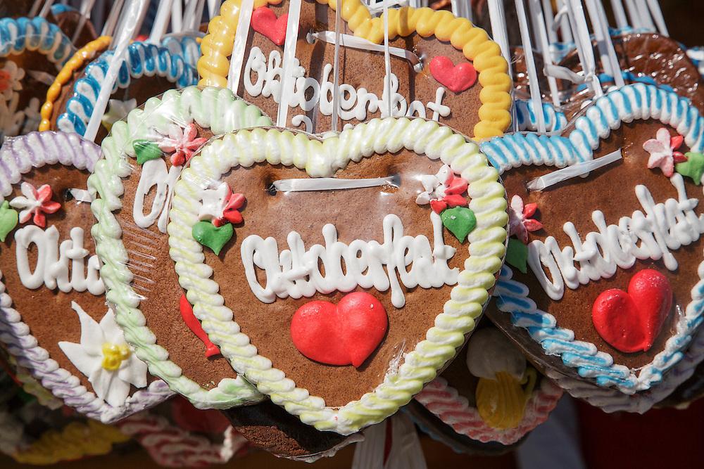 Gingerbread hearts found at Oktoberfest in Munich