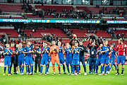 Slovakia team after  the FIFA World Cup Qualifier match between England and Slovakia at Wembley Stadium, London, England on 4 September 2017. Photo by Sebastian Frej.