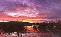A beautiful sunset over Utah Lake at the American Fork Boat Harbor.