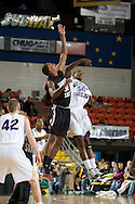 November 27, 2008: San Diego State's Billy White (32) and Western Carolina's Richie Gordon (50) tip off the final game in the opening round of the 2008 Great Alaska Shootout at the Sullivan Arena