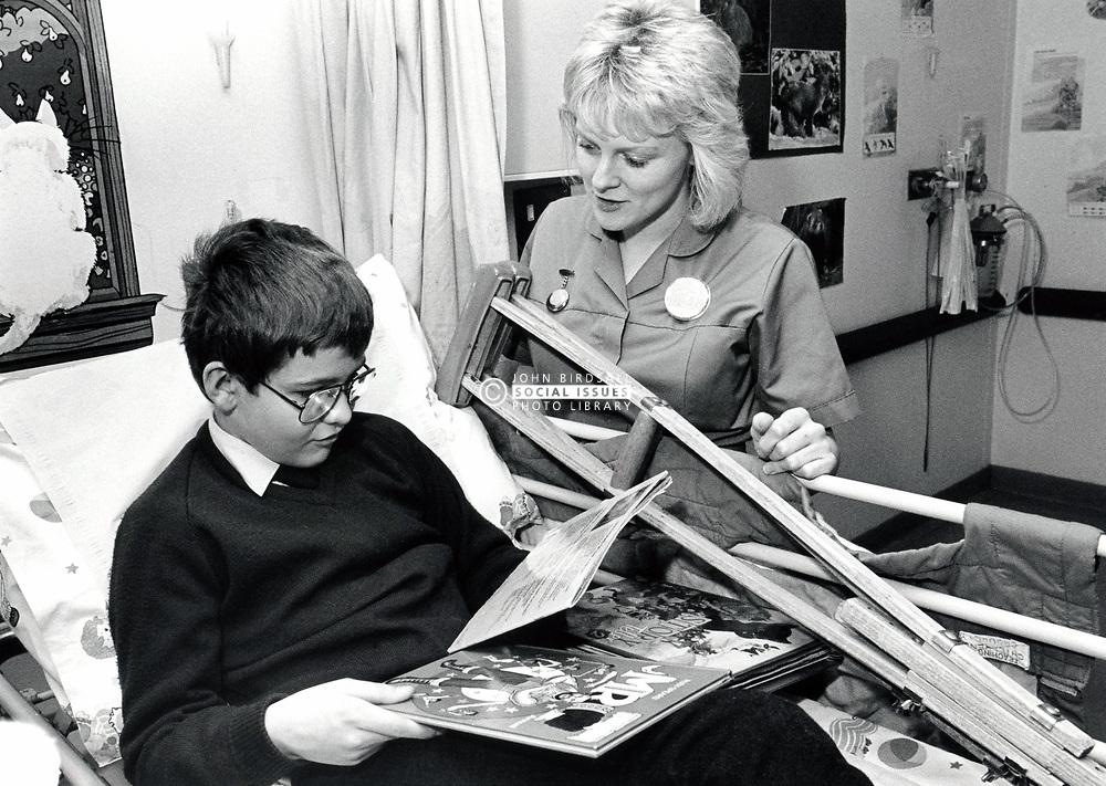 Children's ward, Queen's Medical Centre, Nottingham UK March 1989