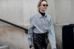 Street style, Olga Karput arriving at Haider Ackermann Fall-Winter 2018-2019 show held at Palais de Chaillot, in Paris, France, on March 3rd, 2018. Photo by Marie-Paola Bertrand-Hillion/ABACAPRESS.COM