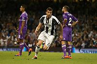 03.06.2017 - Cardiff - Finale di Champions League -  Juventus-Real Madrid nella  foto: Mario Mandzukic esulta dopo il gol