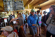 Stanley Baking Company & Cafe is packed for breakfast on Sunday morning, July 14 2013, in Stanley, ID at the base of the Sawtooth Mountains.