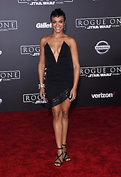 Celebrities arrive at the 'Rogue One: A Star Wars Story' movie premiere in Hollywood, California. 10 Dec 2016 Pictured: Carly Hughes. Photo credit: American Foto Features / MEGA TheMegaAgency.com +1 888 505 6342