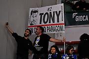 Eurocup 2015-2016 Last 32 Group N Dinamo Banco di Sardegna Sassari - Szolnoki Olaj <br /> GIOCATORE : Ultras Tifosi Spettatori Pubblico<br /> CATEGORIA : Striscione Before Pregame Ritratto<br /> SQUADRA : Dinamo Banco di Sardegna Sassari<br /> EVENTO : Eurocup 2015-2016 GARA : Dinamo Banco di Sardegna Sassari - Szolnoki Olaj <br /> DATA : 03/02/2016 <br /> SPORT : Pallacanestro <br /> AUTORE : Agenzia Ciamillo-Castoria/C.Atzori