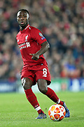 Liverpool midfielder Naby Keita (8) during the Champions League Quarter-Final Leg 1 of 2 match between Liverpool and FC Porto at Anfield, Liverpool, England on 9 April 2019.