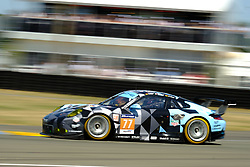 June 17, 2017 - Le Mans, Sarthe, France - Dempsey-Proton Racing .Porsche 911 RSR rider CHRISTIAN RIED (GER) in action during the race of the 24 hours of Le Mans on the Le Mans Circuit - France (Credit Image: © Pierre Stevenin via ZUMA Wire)