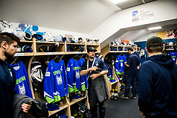 Mitja Robar of Slovenia in Dressing room of Team Slovenia at the 2017 IIHF Men's World Championship, on May 11, 2017 in AccorHotels Arena in Paris, France. Photo by Vid Ponikvar / Sportida