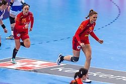 14-12-2018 FRA: Women European Handball Championships Russia - Romania, Paris<br /> First semi final Russia - Romania 28 - 22 / Valentina Neli Ardean-Elisei #15 of Romania, Ana-Maria  Dragut #90 of Romania