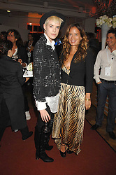 Left to right, AGYNESS DEYN and JADE JAGGER at a party to celebrate the launch of the new Fiat 500 car held at the London Eye, Westminster Bridge Road, London on 21st January 2008.<br />