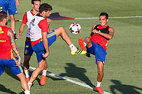 Spanish Javi Martinez and Lucas Vazquez during the first training of the concentration of Spanish football team at Ciudad del Futbol de Las Rozas before the qualifying for the Russia world cup in 2017 August 29, 2016. (ALTERPHOTOS/Rodrigo Jimenez)
