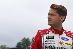 July 14, 2017 - Loudon, NH, United States of America - July 14, 2017 - Loudon, NH, USA: David Ragan (38) hangs out on pit road prior to qualifying for the Overton's 301 at New Hampshire Motor Speedway in Loudon, NH. (Credit Image: © Justin R. Noe Asp Inc/ASP via ZUMA Wire)
