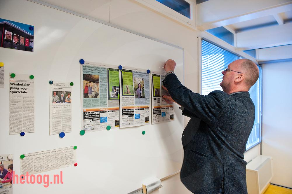 Nederland, oldenzaal 21nov2011 Paul Werners van VrijwilligersCentraleOldenzaal