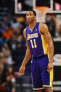 Dec 23, 2013; Phoenix, AZ, USA; Los Angeles Lakers guard Wesley Johnson (11) in action against the Phoenix Suns in the first half at US Airways Center. Mandatory Credit: Jennifer Stewart-USA TODAY Sports