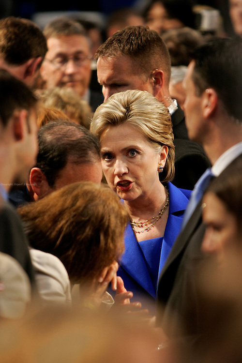 New York, New York, USA, 20080603:   Presidential hopeful Hillary Clinton is holding her victory speech at the Baruch College after winning South Dakota, applauding Obama for Montana but not yet conceding...Photo: Orjan F. Ellingvag/ Dagens Naringsliv