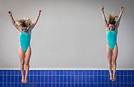 Francesca Dellape' e Tania Cagnotto<br /> Rientro Tania Cagnotto e Francesca Dallape'<br /> Piscina Bolzano BZ<br /> Photo Pasquale Mesiano/ Deepbluemedia /Insidefoto