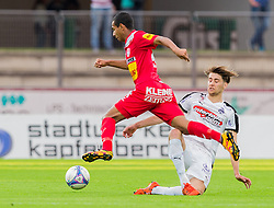 25.05.2016, Franz Fekete Stadion, Kapfenberg, AUT, 2. FBL, KSV 1919 vs SV Austria Salzburg, 36. Runde, im Bild Joao Victor Santos Sa (KSV 1919), Mehmet Bulut (SV Austria Salzburg) // during the Austrian Erste Liga Match, 36th Round, between KSV 1919 and SV Austria Salzburg at the Franz Fekete Stadium, Kapfenberg, Austria on 2016/05/25, EXPA Pictures © 2016, PhotoCredit: EXPA/ Dominik Angerer