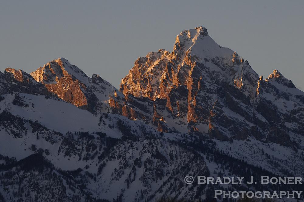 Grand Teton at sunset